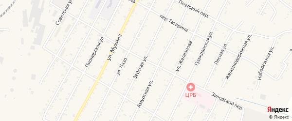 Заводской переулок на карте поселка Магдагачей с номерами домов