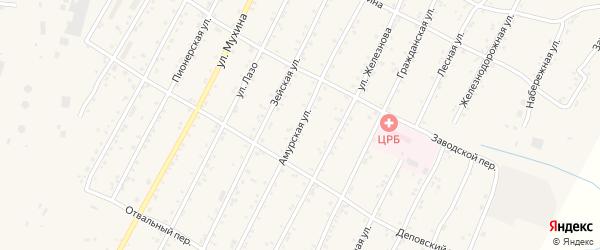 Амурская улица на карте поселка Магдагачей с номерами домов