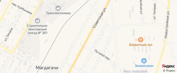 Советская улица на карте поселка Магдагачей с номерами домов