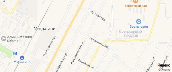 Овражный переулок на карте поселка Магдагачей с номерами домов
