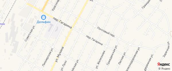 Улица Гагарина на карте поселка Магдагачей с номерами домов