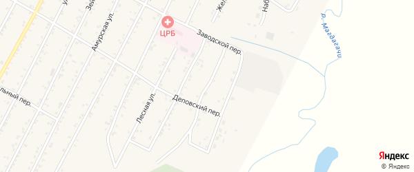 Набережная улица на карте поселка Магдагачей с номерами домов