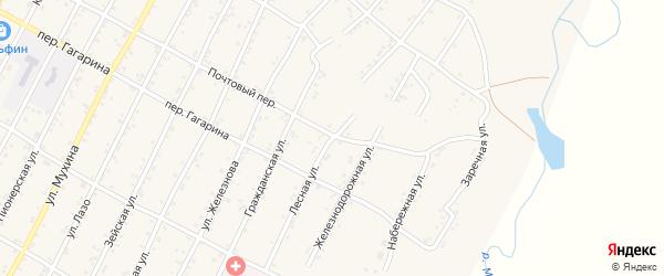 Лесная улица на карте поселка Магдагачей с номерами домов