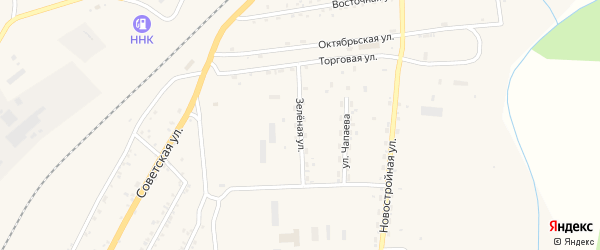 Зеленая улица на карте поселка Магдагачей с номерами домов
