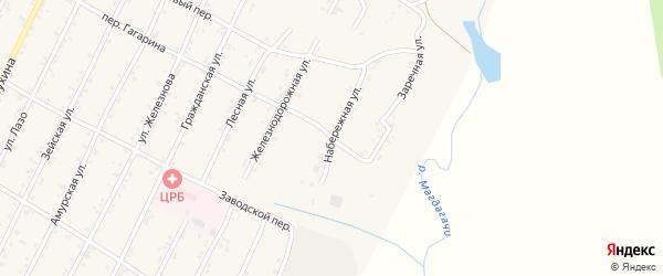 Заречная улица на карте поселка Магдагачей с номерами домов