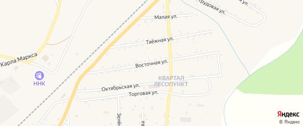 Восточная улица на карте поселка Магдагачей с номерами домов