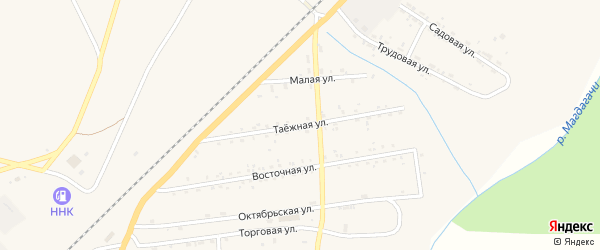 Таежная улица на карте поселка Магдагачей с номерами домов