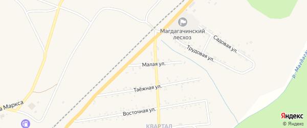 Малая улица на карте поселка Магдагачей с номерами домов