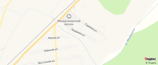 Трудовая улица на карте поселка Магдагачей с номерами домов