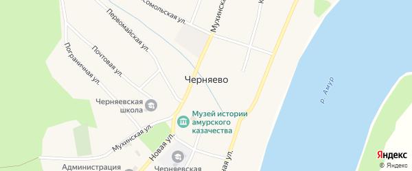 Кооперативная улица на карте села Черняево с номерами домов