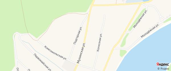 Комсомольская улица на карте села Черняево с номерами домов