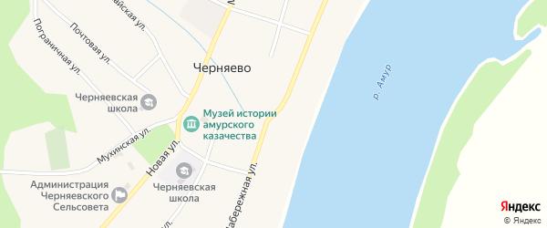 Набережная улица на карте села Черняево с номерами домов