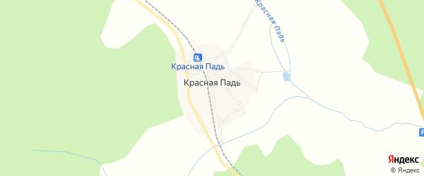 Карта станции 2 нп блок-пост Красная Падь в Амурской области с улицами и номерами домов