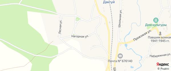 Нагорная улица на карте села Дактуя с номерами домов