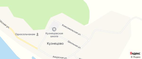 Комсомольская улица на карте села Кузнецово с номерами домов