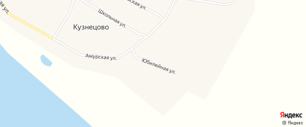 Юбилейная улица на карте села Кузнецово с номерами домов