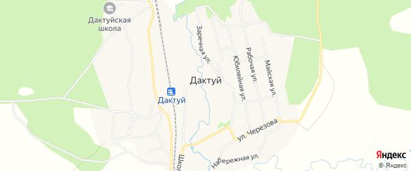 Карта села Дактуя в Амурской области с улицами и номерами домов