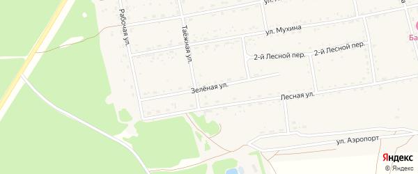 Зеленая улица на карте села Тыгды с номерами домов