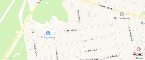 Новая улица на карте села Тыгды с номерами домов