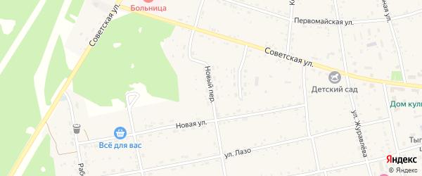 Новый переулок на карте села Тыгды с номерами домов