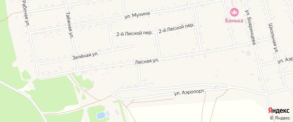 Лесная улица на карте села Тыгды с номерами домов
