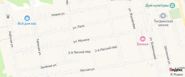Улица Мухина на карте села Тыгды с номерами домов