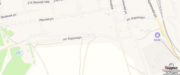 Улица Аэропорт на карте села Тыгды с номерами домов