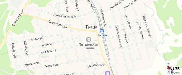 Карта села Тыгды в Амурской области с улицами и номерами домов