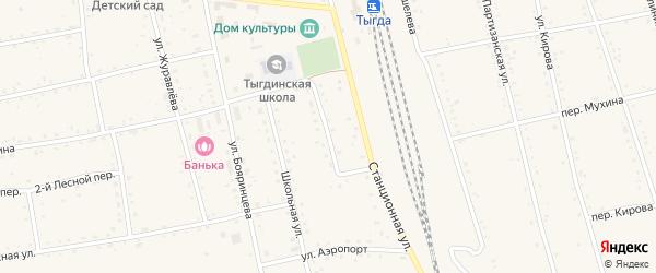 Театральная улица на карте села Тыгды с номерами домов
