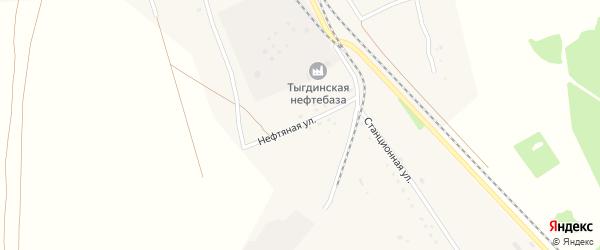 Нефтяная улица на карте села Тыгды с номерами домов