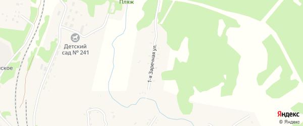 1-я Заречная улица на карте села Тыгды с номерами домов