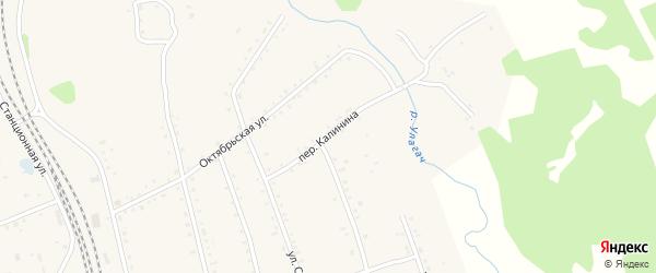 Переулок Калинина на карте села Тыгды с номерами домов