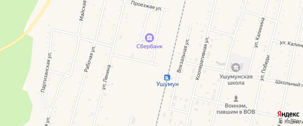 Красноармейская улица на карте поселка Ушумуна с номерами домов
