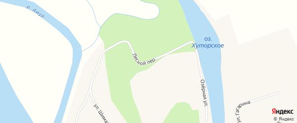 Лесной переулок на карте села Ушаково с номерами домов