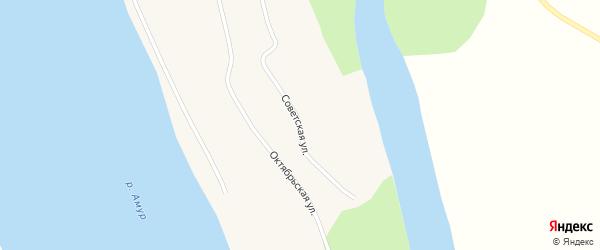 Советская улица на карте села Ушаково с номерами домов