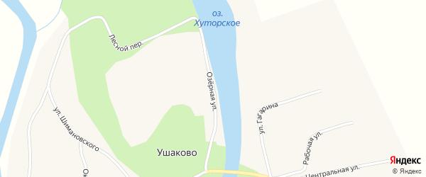 Озерная улица на карте села Ушаково с номерами домов