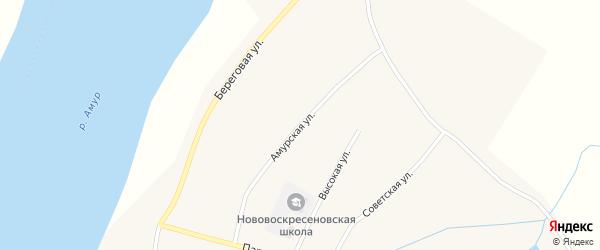 Амурская улица на карте села Нововоскресеновки с номерами домов