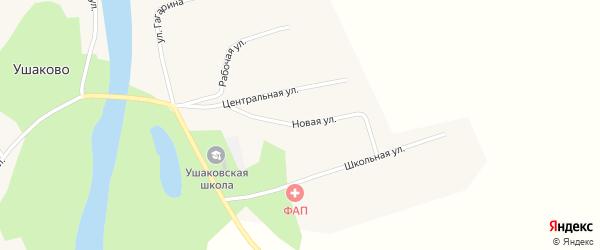Новая улица на карте села Ушаково с номерами домов