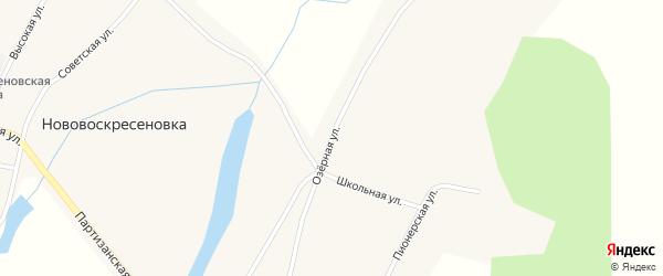 Озерная улица на карте села Нововоскресеновки с номерами домов