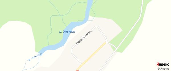 Ульминская улица на карте села Аносово с номерами домов