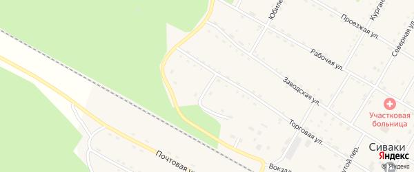 Октябрьская улица на карте поселка Сиваки с номерами домов