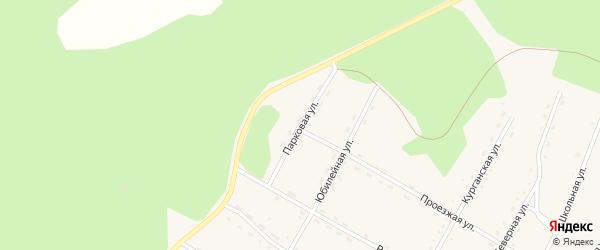Парковая улица на карте поселка Сиваки с номерами домов