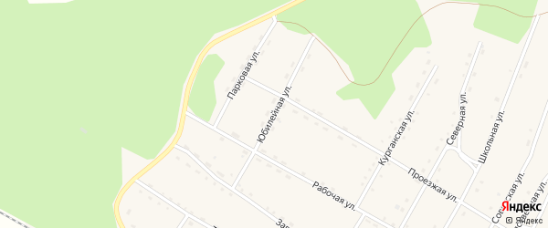 Юбилейная улица на карте поселка Сиваки с номерами домов