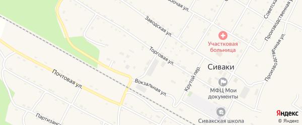 Трудовая улица на карте поселка Сиваки с номерами домов