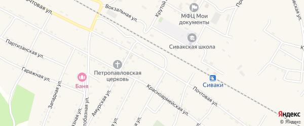 Почтовая улица на карте поселка Сиваки с номерами домов