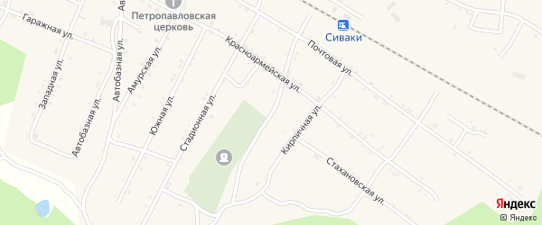 Ононская улица на карте поселка Сиваки с номерами домов
