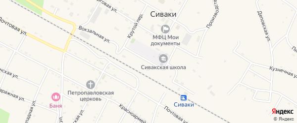 Вокзальная улица на карте поселка Сиваки с номерами домов