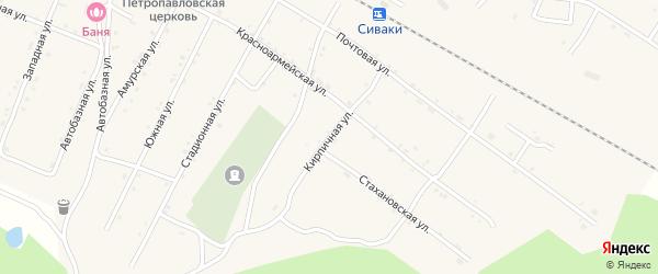 Кирпичная улица на карте поселка Сиваки с номерами домов