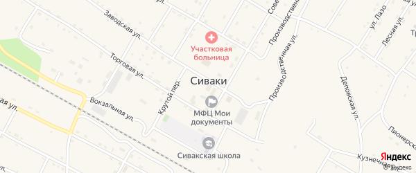Релочный переулок на карте поселка Сиваки с номерами домов
