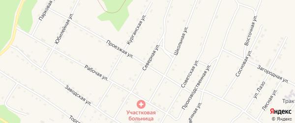 Северная улица на карте поселка Сиваки с номерами домов